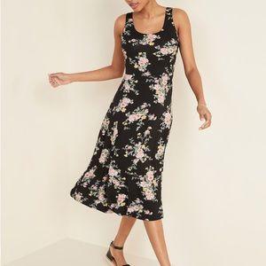 Sleeveless Jersey-Knit Fit & Flare Midi Dress